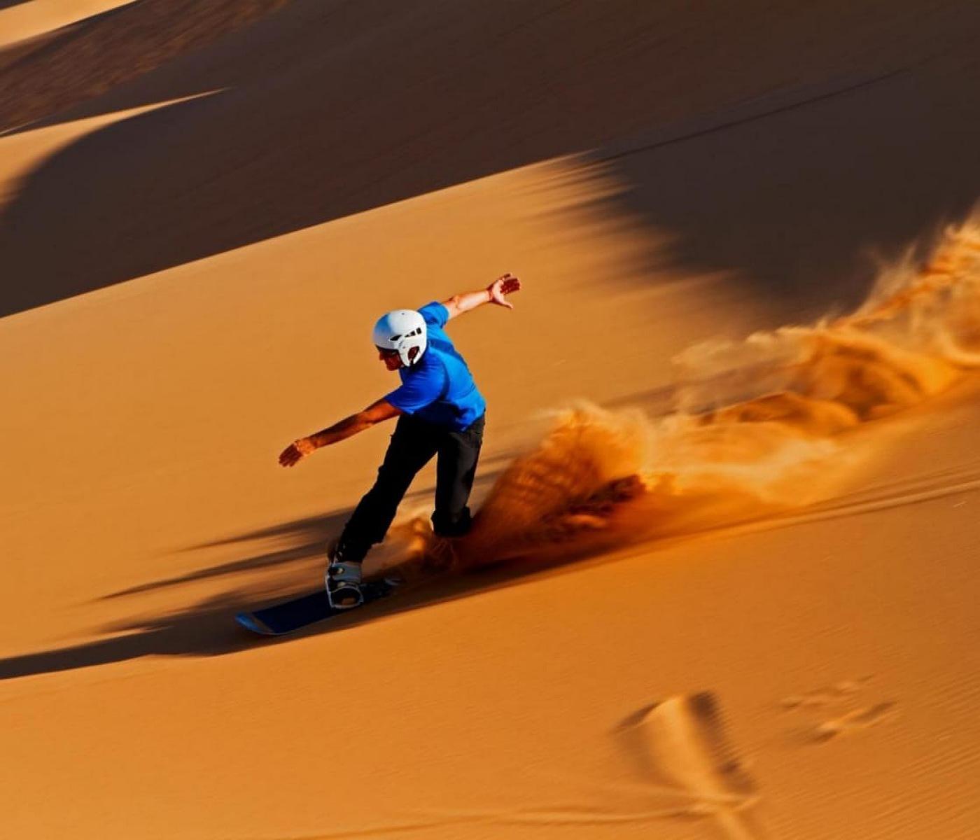 sandboarding in Merzouga